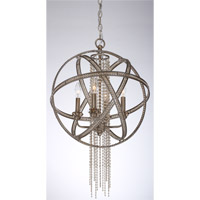 Cascade 4 Light Silver Leaf Pendant Ceiling Light