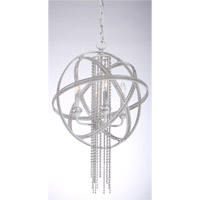 Cascade 4 Light Satin White Pendant Ceiling Light