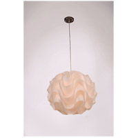Zeev Lighting P30023XL/1/CH-WH Nami 1 Light Chrome Pendant Ceiling Light