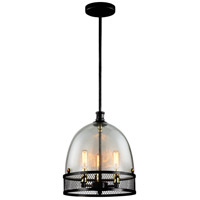 Zeev Lighting P30035/3/DBZ Theia 3 Light 11 inch Matte Black Pendant Ceiling Light
