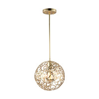 Helios 1 Light 10 inch Matte Gold Pendant Ceiling Light