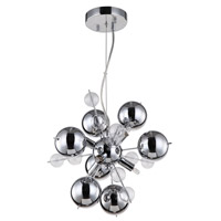 Zeev Lighting P30049/6/CH Proton 6 Light 14 inch Chrome Pendant Ceiling Light