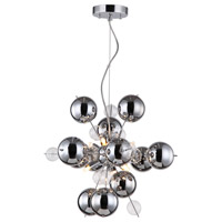 Zeev Lighting P30050/6/CH Proton 6 Light 18 inch Chrome Pendant Ceiling Light