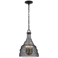 Zeev Lighting P30064/4/DBZ Urban 4 Light 12 inch Bronze Pendant Ceiling Light