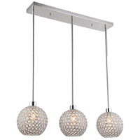Kent 3 Light 30 inch Chrome Linear Pendant Ceiling Light