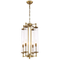 Regis 4 Light 14 inch Aged Brass Pendant Ceiling Light