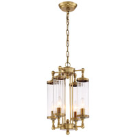 Regis 4 Light 12 inch Aged Brass Pendant Ceiling Light
