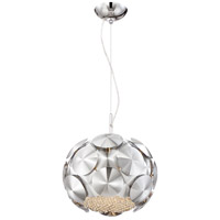 Crown 3 Light 12 inch Chrome Pendant Ceiling Light