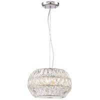 Zeev Lighting P30079/5/CH Lunar 3 Light 12 inch Chrome Pendant Ceiling Light