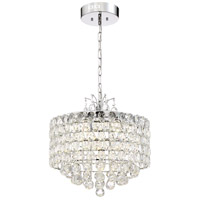 Zeev Lighting P30081/LED/CH Belle LED 20 inch Chrome Pendant Ceiling Light
