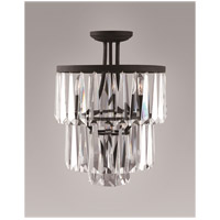 Zeev Lighting Raffinato 4 Light Semi Flush in Bronze SF50003/3+1/BP