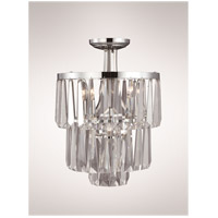 Zeev Lighting Raffinato 4 Light Semi Flush in Polished Nickel SF50003/3+1/PN
