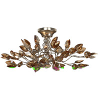 Zeev Lighting SF50004/4/SL-AGP/CC Misthaven 4 Light 24 inch Silver Leaf with Antique Gold Paint Semi Flush Ceiling Light