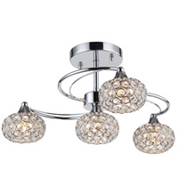 Kent 4 Light 19 inch Chrome Semi-Flush Mount Ceiling Light