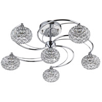 Kent 6 Light 23 inch Chrome Semi-Flush Mount Ceiling Light