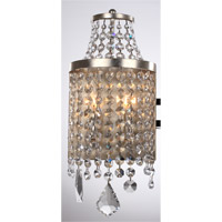 Palais 2 Light 8 inch Silver Leaf Wall Sconce Wall Light
