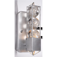 Zeev Lighting Imbrium 1 Light Wall Sconce in Silver Leaf WS70009/1/SL