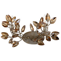 Zeev Lighting WS70015/2/SL-AGP-CC Misthaven 2 Light 20 inch Silver Leaf with Antique Gold Paint Wall Sconce Wall Light