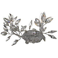 Zeev Lighting WS70015/2/SL-CL Misthaven 2 Light 20 inch Silver Leaf with Clear Crystal Wall Sconce Wall Light