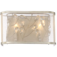 Vine 2 Light 7 inch Burnished Silver Wall Sconce Wall Light