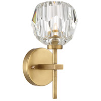 Parisian 1 Light 9 inch Aged Brass Wall Sconce Wall Light
