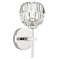 Zeev Lighting WS70033/1/PN Parisian 1 Light 9 inch Polished Nickel with Crystal Wall Sconce Wall Light