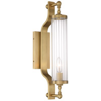 Zeev Lighting WS70034/1/AGB Regis 1 Light 4 inch Aged Brass with Crystal Wall Sconce Wall Light