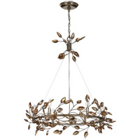 Zeev Lighting CD10101/6/SL-AGP/CC Misthaven 6 Light 32 inch Silver Leaf with Antique Gold Paint Chandelier Ceiling Light