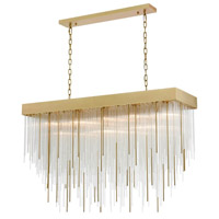 Zeev Lighting CD10330/17/AGB Waterfall 17 Light 15 inch Aged Brass Chandelier Ceiling Light photo thumbnail