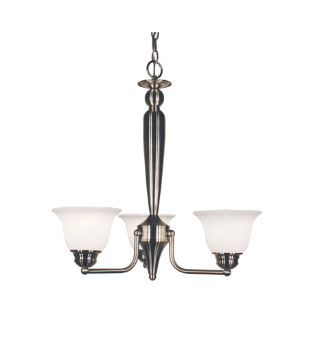Z-Lite Huntingdale 3 Light Chandelier in Brushed Nickel 100-3P-BN photo