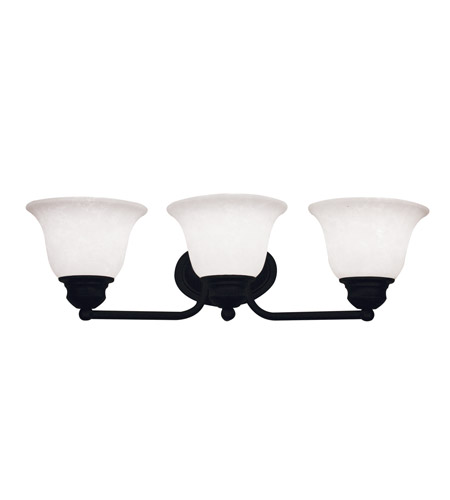 Z-Lite Huntingdale 3 Light Vanity in Matte Black 100-3V-MB photo