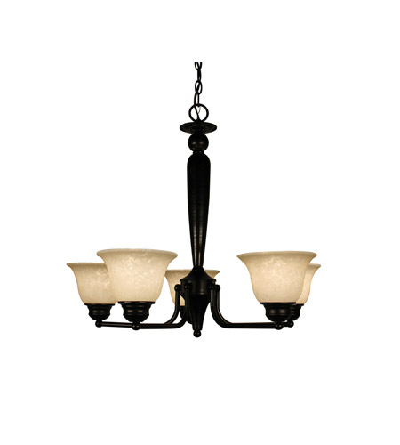 Z-Lite Huntingdale 5 Light Chandelier in Bronze 100-5P-BRZ photo
