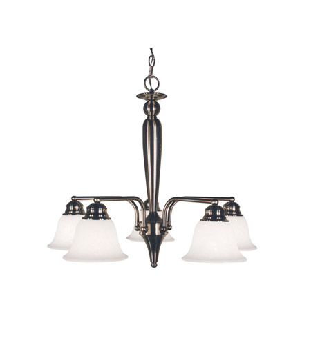 Z-Lite Huntingdale 5 Light Chandelier in Brushed Nickel 100-5PD-BN photo