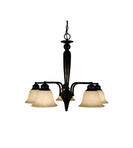 Z-Lite Huntingdale 5 Light Chandelier in Bronze 100-5PD-BRZ photo
