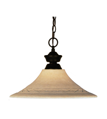 Z-Lite Signature 1 Light Pendant in Bronze 100701BRZ-GF16 photo