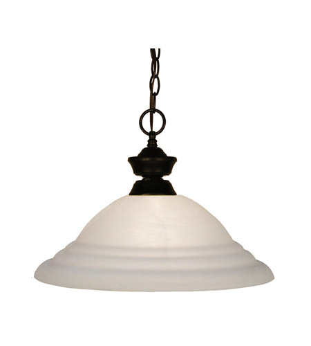 Z-Lite 100701BRZ-SW16 Signature 1 Light 16 inch Bronze Pendant Ceiling Light in White Swirl photo