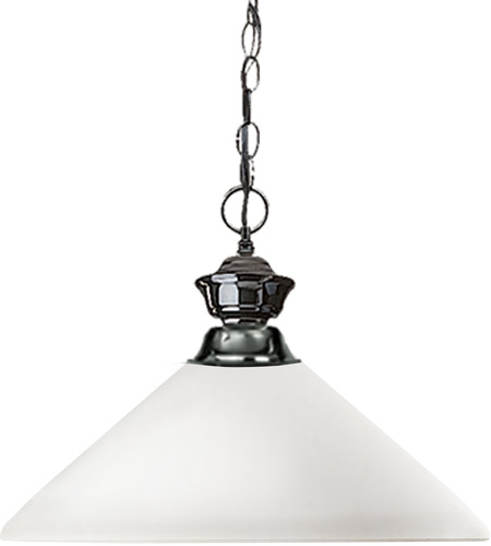 Z-Lite 100701GM-AMO14 Shark 1 Light 14 inch Gun Metal Pendant Ceiling Light in Matte Opal Angular photo