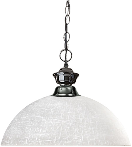 Z-Lite 100701GM-DWL14 Shark 1 Light 14 inch Gun Metal Billiard/Pendant Ceiling Light in White Linen Dome photo