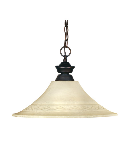 Z-Lite 100701OB-FGM16 Riviera 1 Light 16 inch Olde Bronze Pendant Ceiling Light in Golden Mottle Flared photo