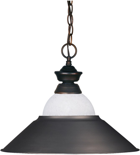 Z-Lite 100701OB-WMLOB Signature 1 Light 16 inch Olde Bronze Pendant Ceiling Light in Both  photo