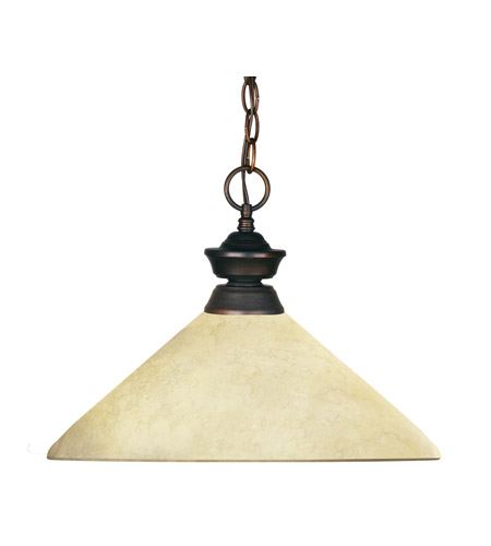 Z-Lite Crown 1 Light Billiard/Pendant in Weathered Bronze 100701WB-AGM14 photo