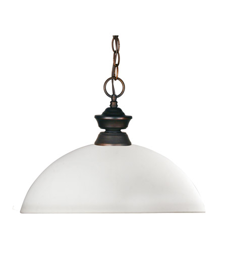 Z-Lite Copa 1 Light Billiard/Pendant in Weathered Bronze 100701WB-DMO14 photo