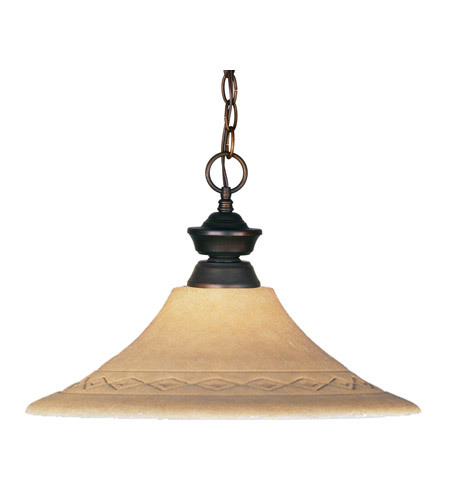 Z-Lite Signature 1 Light Pendant in Weathered Bronze 100701WB-GF16 photo