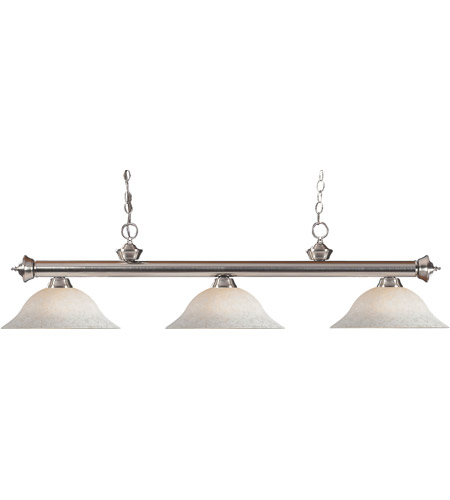 Z-Lite Riviera 3 Light Billiard in Brushed Nickel 100703BN-WM16 photo