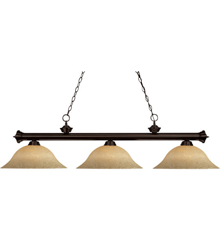 Z-Lite 100703BRZ-GM16 Riviera 3 Light 56 inch Bronze Billiard Ceiling Light in Golden Mottle photo