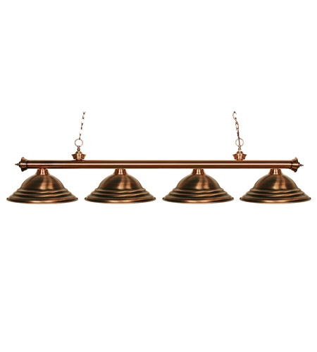 Z-Lite Riviera 4 Light Billiard in Antique Copper 100704AC-SAC photo