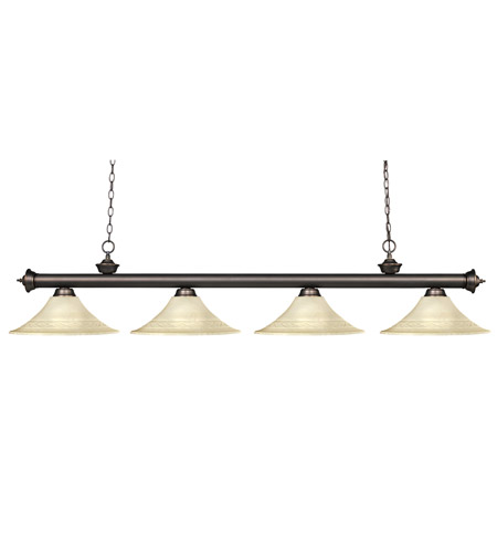 Z-Lite Riviera 4 Light Billiard in Olde Bronze 100704OB-FGM16 photo
