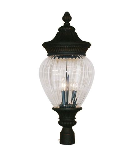 Z-Lite Devonshire 3 Light Post Light in Black Gold 1176PHB-BG photo