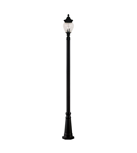 Z-Lite Devonshire 2 Light Outdoor Post Light in Black 1176PHM-519P-BK photo