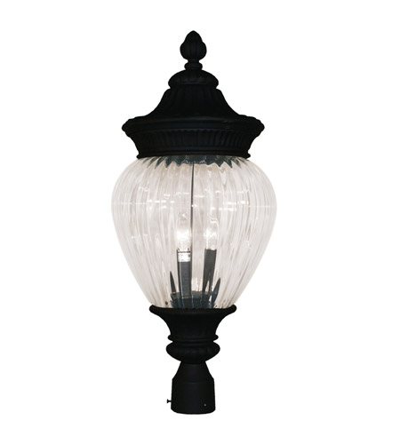 Z-Lite Devonshire 2 Light Post Light in Black 1176PHM-BK photo
